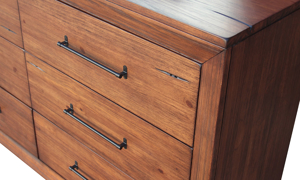 Rotta Brown 6-Drawer Dresser - Solid wood modern dresser