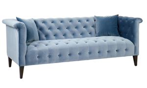 Jessica Jacobs Marco Powder Blue Velvet Sofa