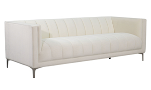 Jessica Jacobs Marilyn Cream Velvet Sofa