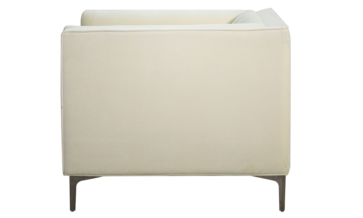 Jessica Jacobs Marilyn Cream Velvet Arm Chair