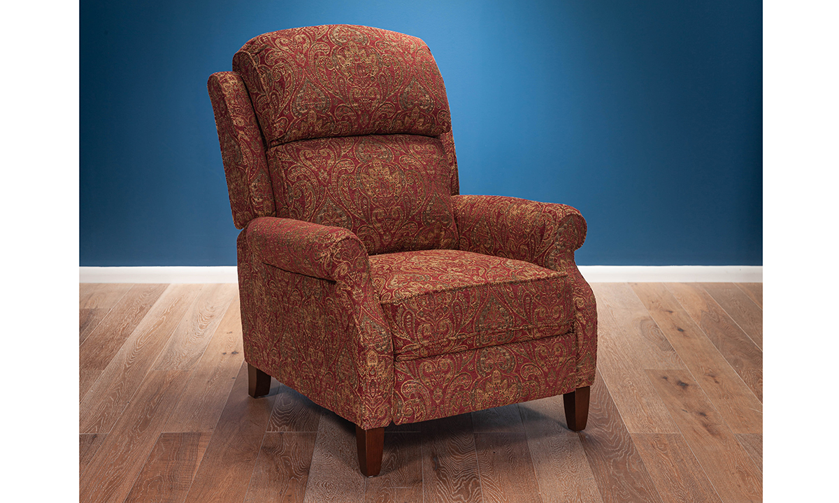 Cinnabar Paisley Pushback Recliner The Dump Luxe