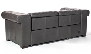 Churchill Chesterfield Pewter Leather Power Reclining Sofa