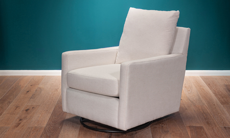 Milano Cotton Swivel Glider Chair