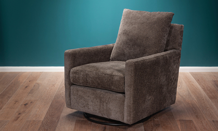 Wavemaker Mineral Swivel Glider Chair