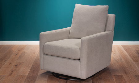 Softie Fog Swivel Glider Chair