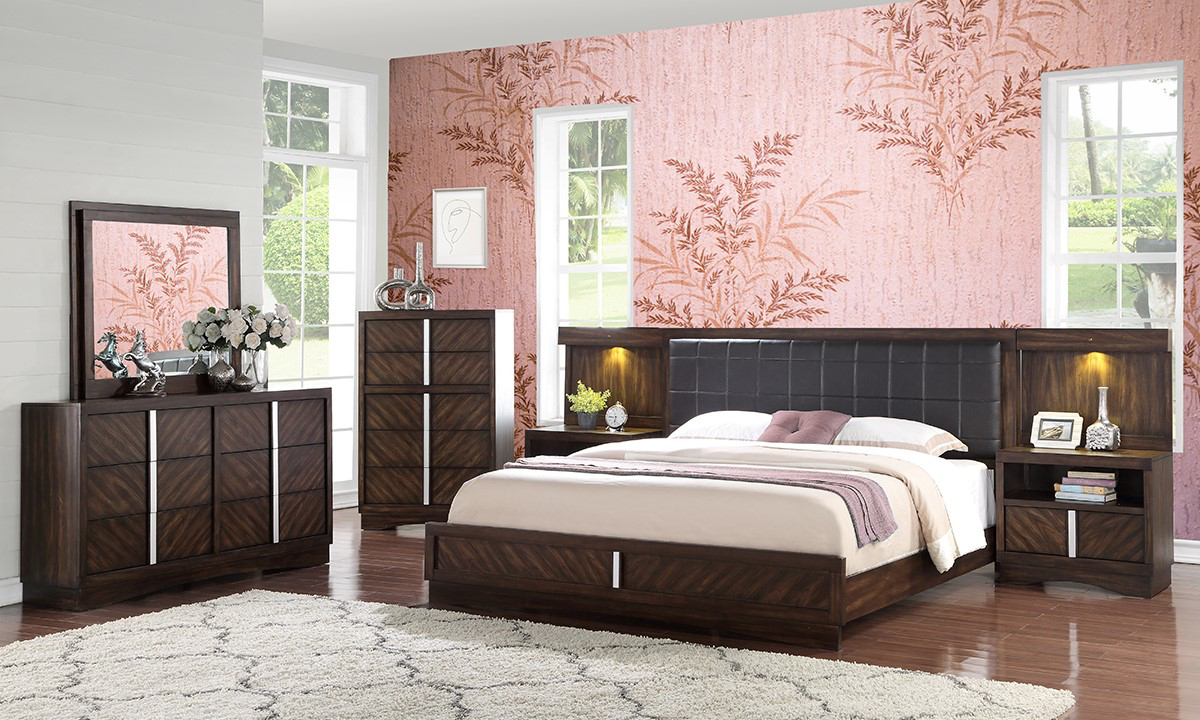 Picture of Manhattan 9-Piece King Panel Bedroom Set