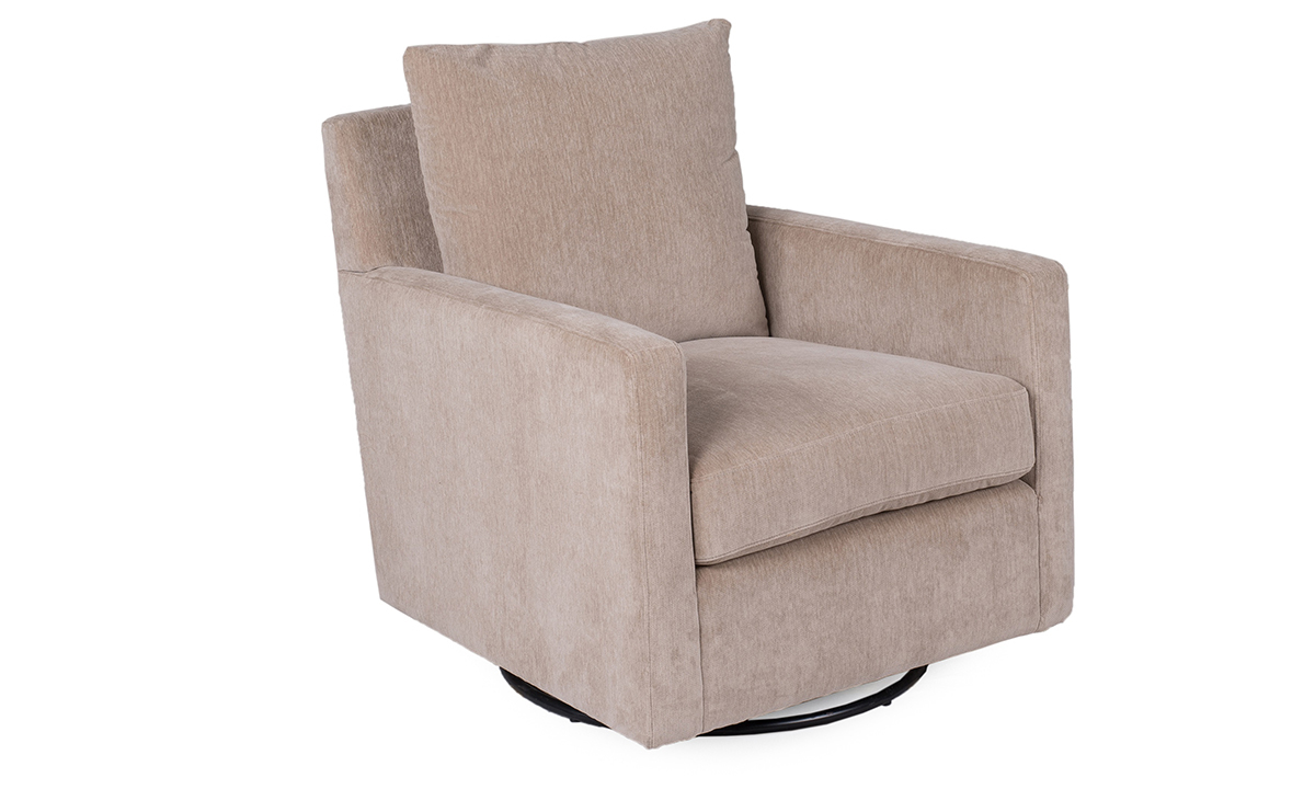 Khaki Putty Swivel Glider Chair