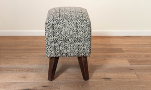Pink City Lucia Upholstered Ottoman