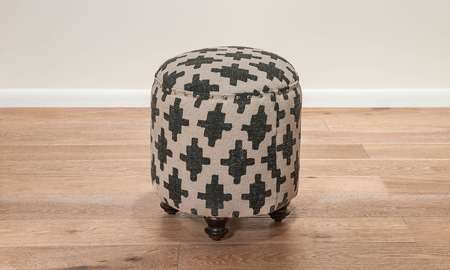 Pink City Adair Diamond Ottoman