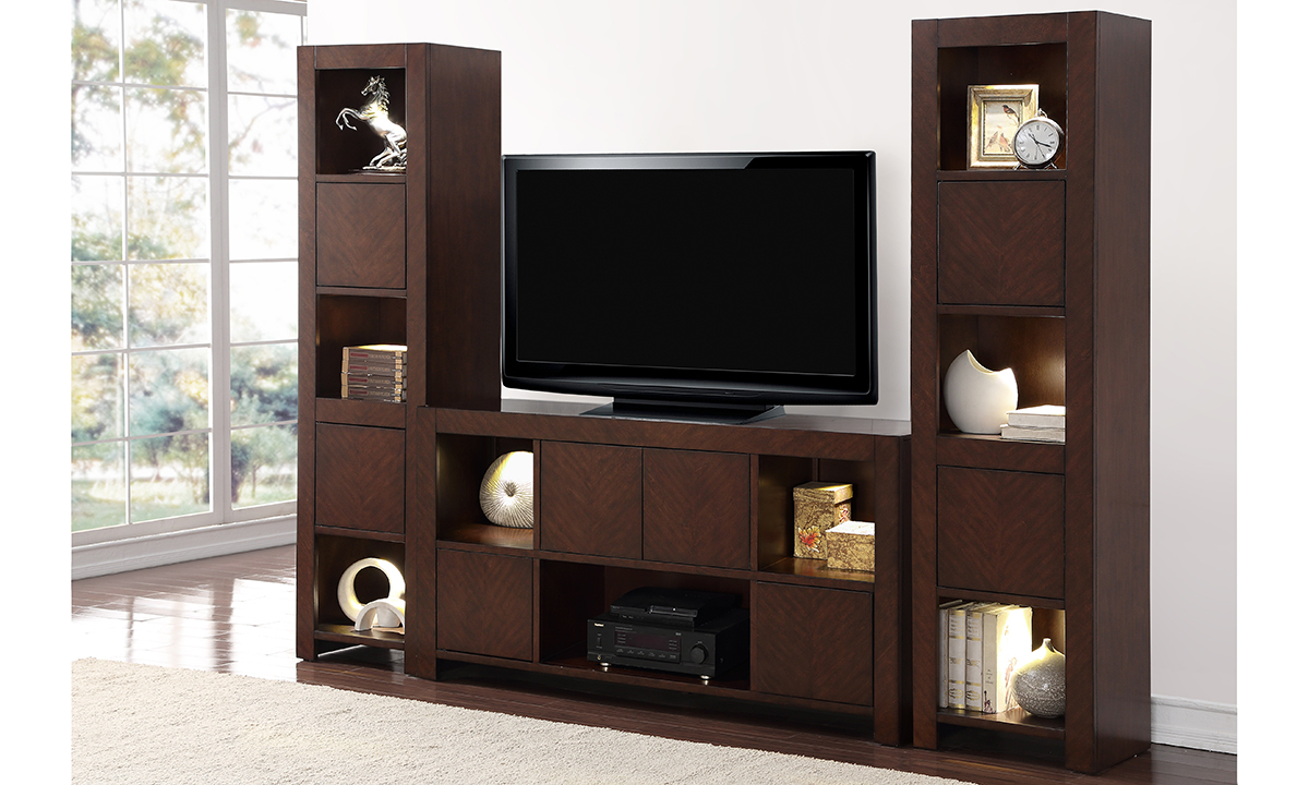 City Lights 3 Piece Entertainment Wall Unit The Dump Luxe Furniture Outlet