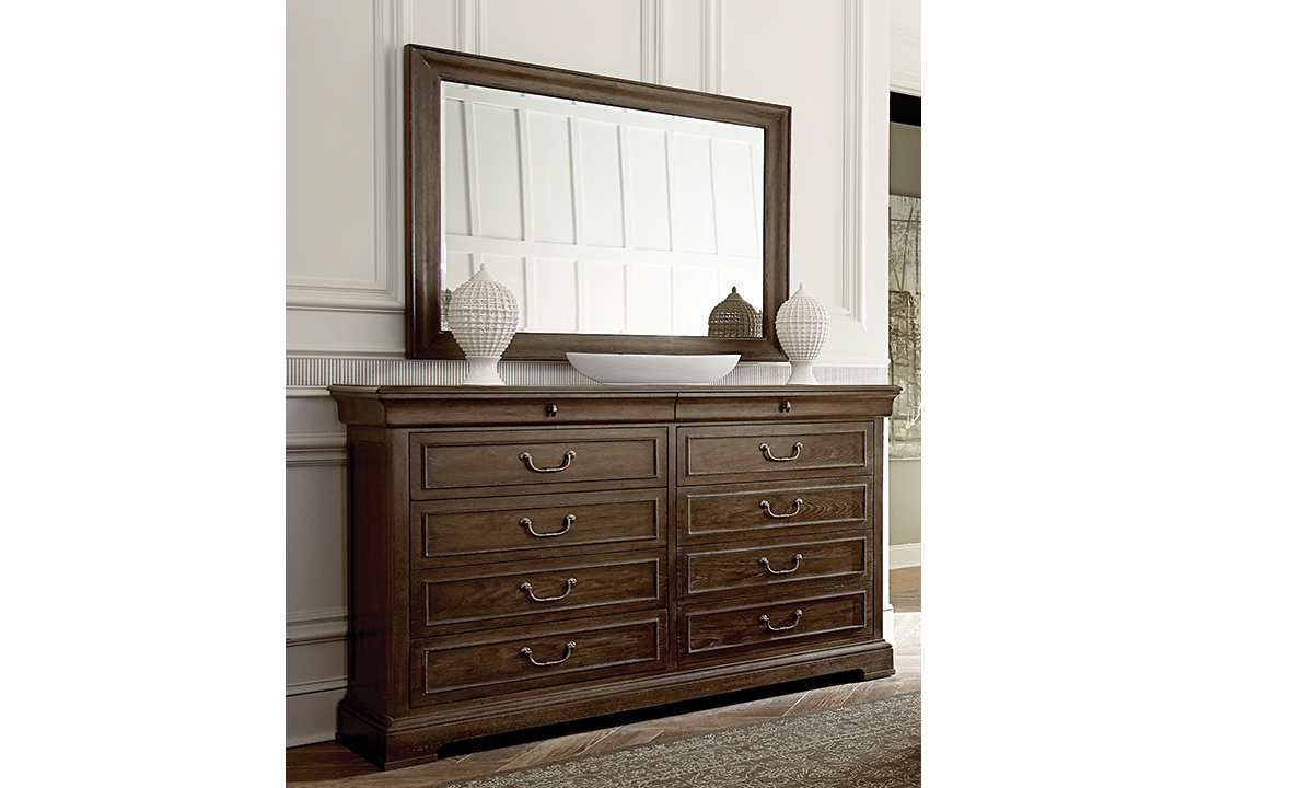 A.R.T. St. Germain Dresser and Mirror Set