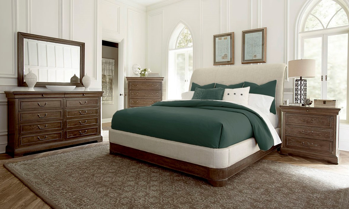 A R T St Germain Upholstered Bedroom Set The Dump Luxe Furniture Outlet