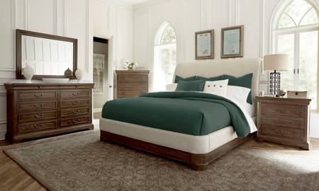 A.R.T. St. Germain Upholstered Queen Sleigh Bedroom Set