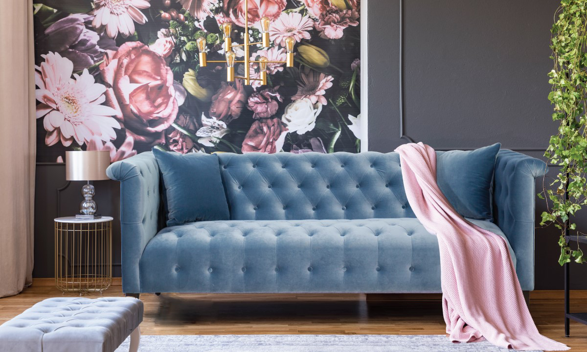 Jessica Jacobs Marco Powder Blue Velvet Sofa The Dump Luxe Furniture Outlet