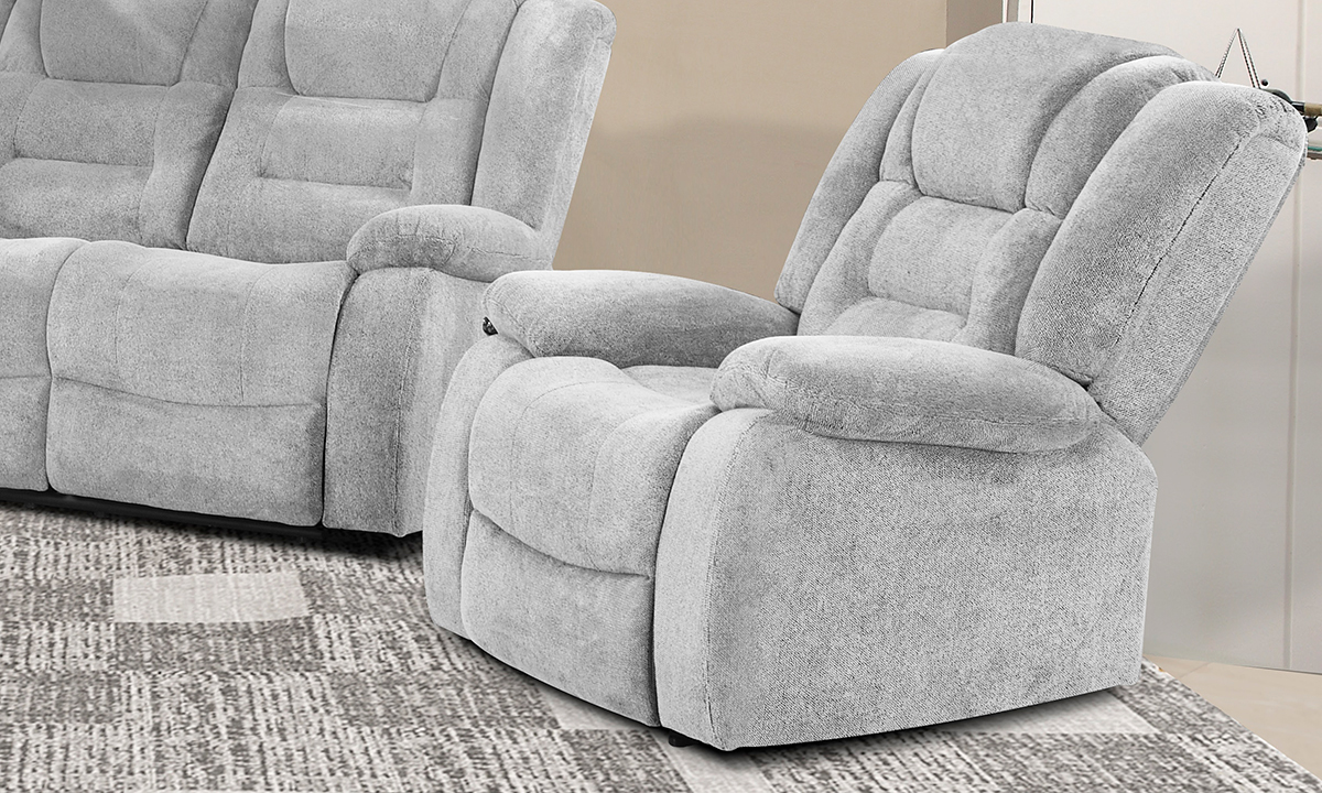Dominic Ash Power Recliner with Power Headrest