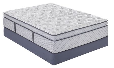 "Plush 15.5"" Euro Top mattress from Scott Living with gel memory foam and dual coils and innersprings"