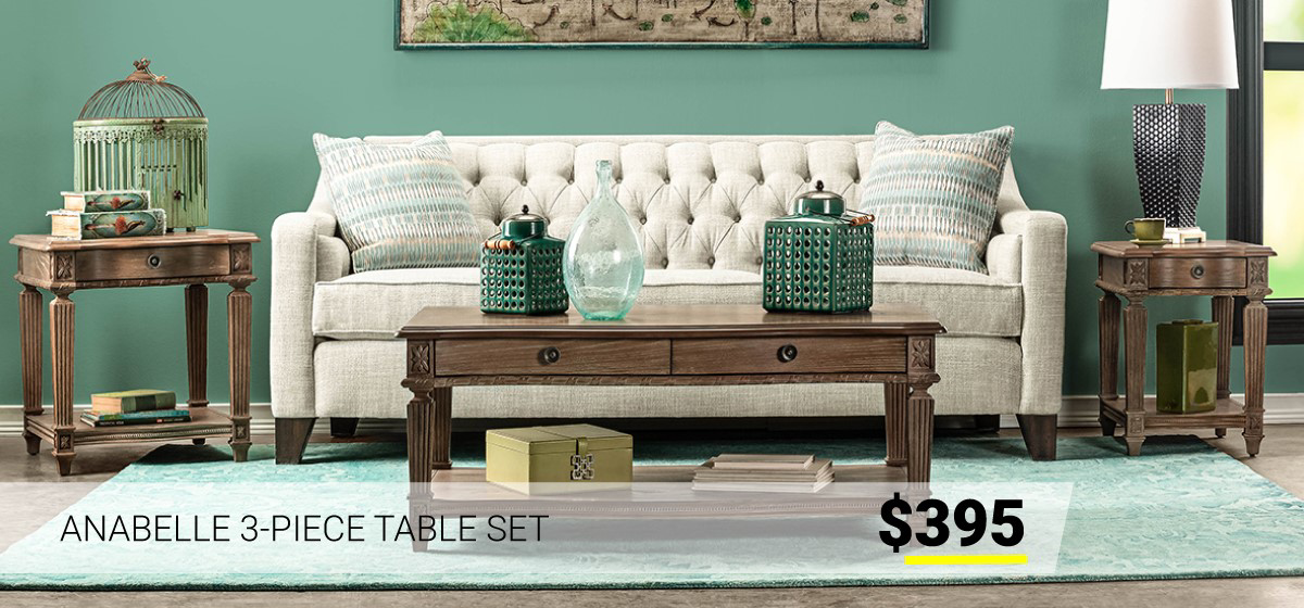 Anabelle 3-Piece Table Set $395