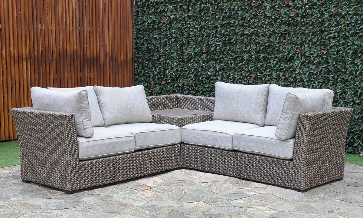 Creative Living Grey Outdoor 3-Piece Sectional