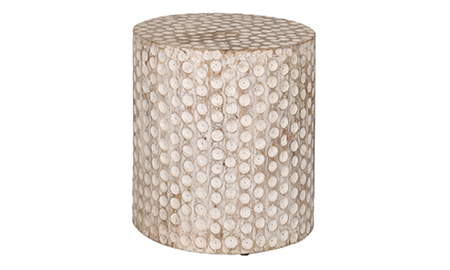Artesia Home Poinsettia Wood Stool