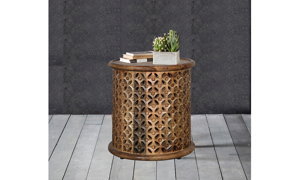 Artesia Home Lace Carved End Table