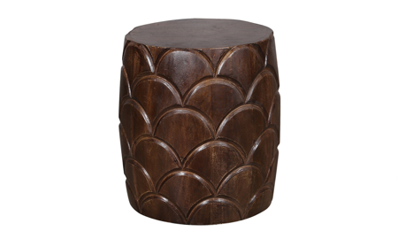 Artesia Home Iris Scalloped Wood Stool