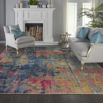 Picture of Celestial CES09 Blue & Yellow Area Rugs
