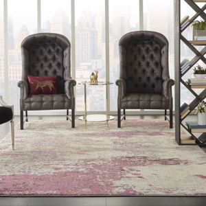 Picture of Celestial CES02 Ivory & Pink Area Rugs