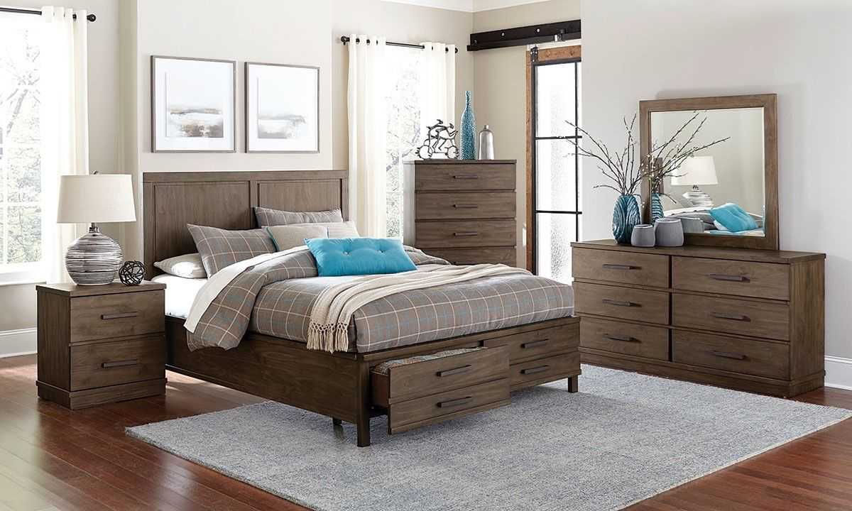 Beckham Brown Storage Panel Bedrooms