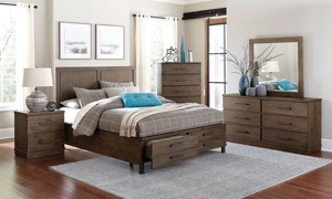 Beckham Brown King Storage Panel Bed
