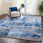 Picture of Prismatic PRS10 Blue & Grey Area Rugs