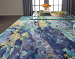 Picture of Prismatic PRS09 Silver & Blue Area Rugs