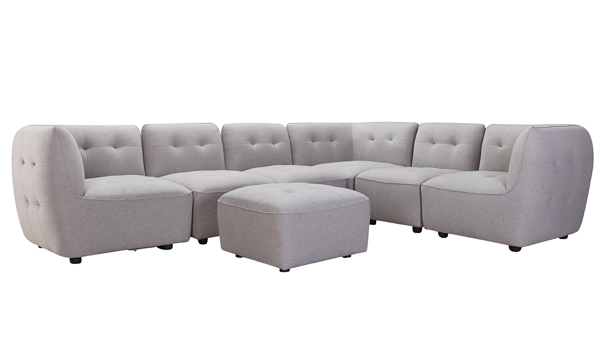 Miles Anthracite Grey Modular Sectional