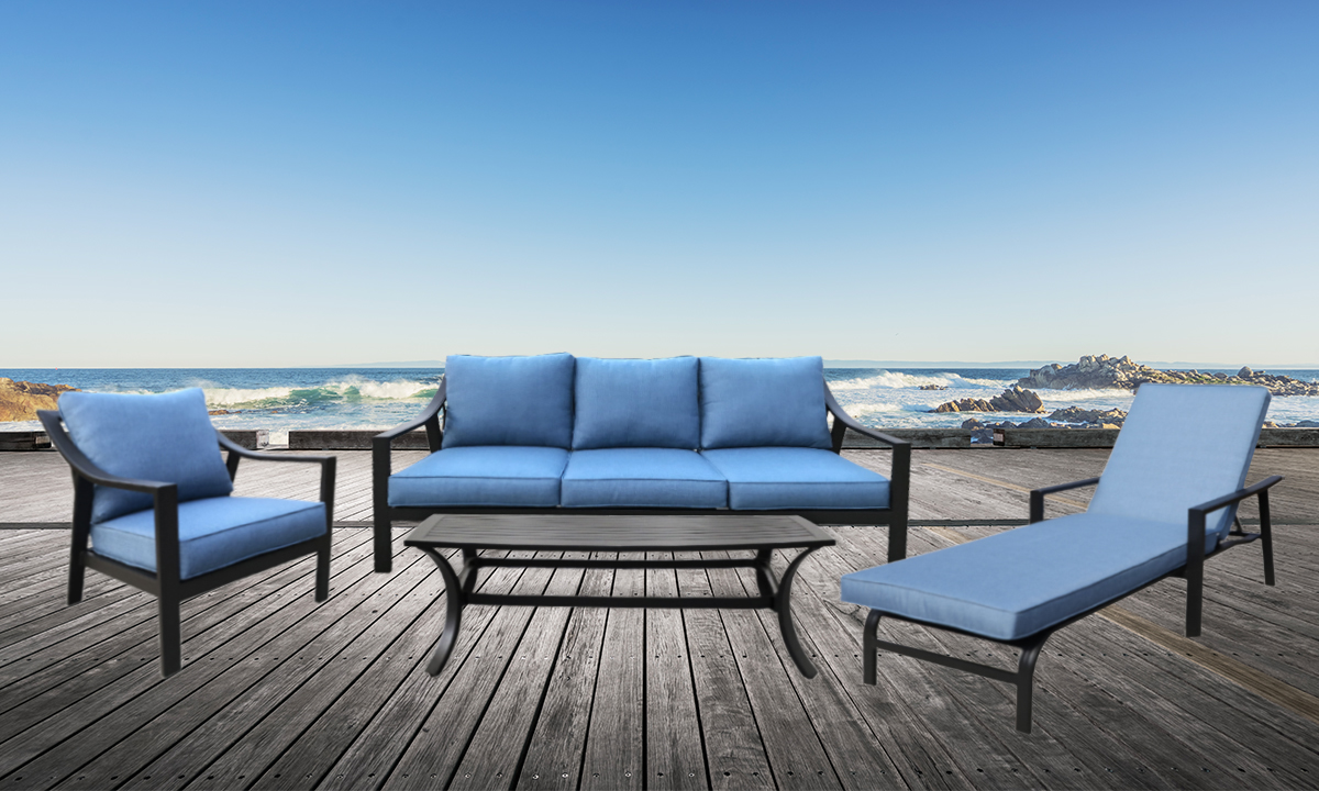 Gathercraft Genoa Outdoor 4-Piece Lounge Set