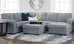 Prospect Sleeper Sectionals - available in two configuration with pop-up sleeper and hidden storage.