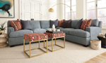 Carolina Custom Bowden 3-Piece Sectional Sea Blue