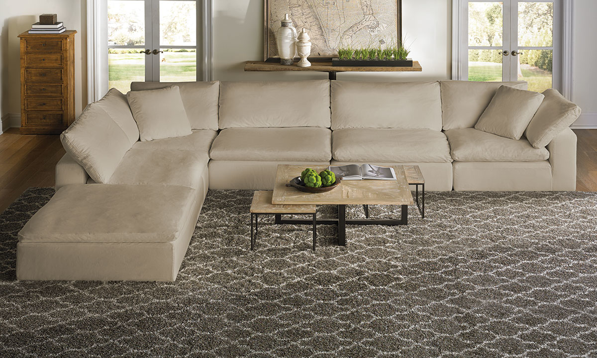 Luxe Modular Slipcovered 5-Piece Sectional