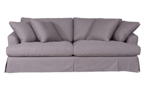 Presley 93-Inch Washed Cotton Slipcovered Sofa
