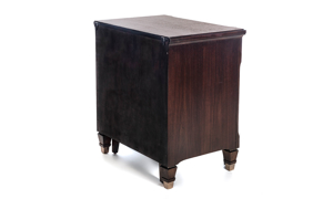 Valley View Walnut 2-Piece Vanity Nightstand
