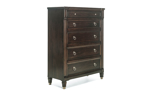 Valley View Walnut 5-Drawer Chest