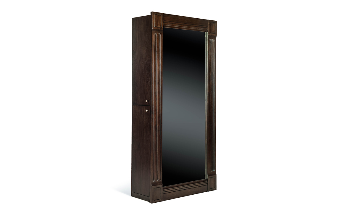 Picture of Valley View Walnut Mirrored Wardrobe