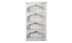 Pink City Sadhil White Bookcase