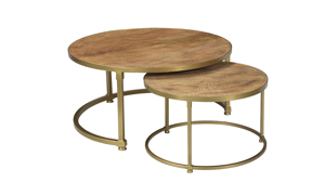 Pink City Ishana Nested Cocktail Table Set