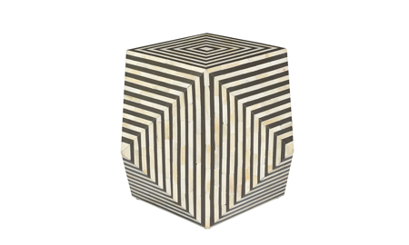 Pink City Carina Bone Inlay Accent Table