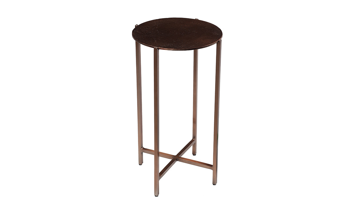 Picture of Pink City Rushil Iron Accent Table