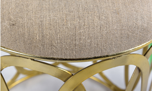 Pink City Anika Gold Accent Stool