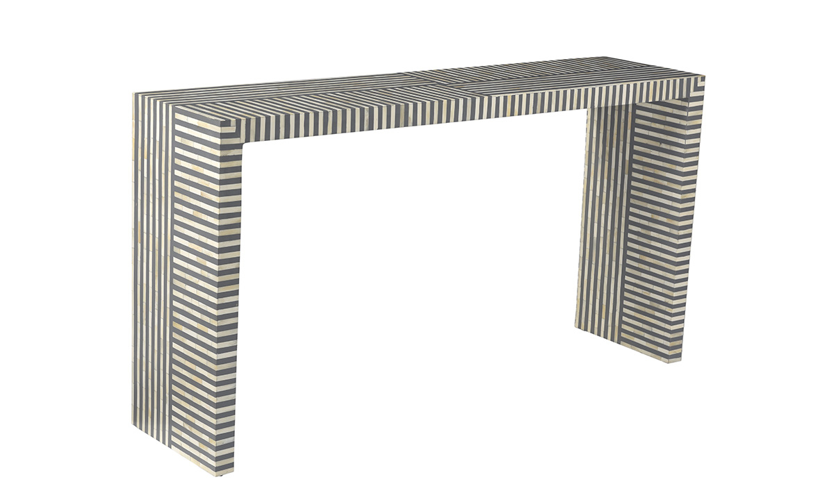 Pink City Taara Bone Inlay Console Table