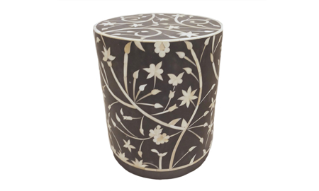 Artesia Home Cordyline Floral Bone Inlay Side Table