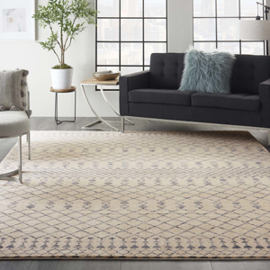 Picture of Palermo PMR03 Beige & Blue Area Rugs
