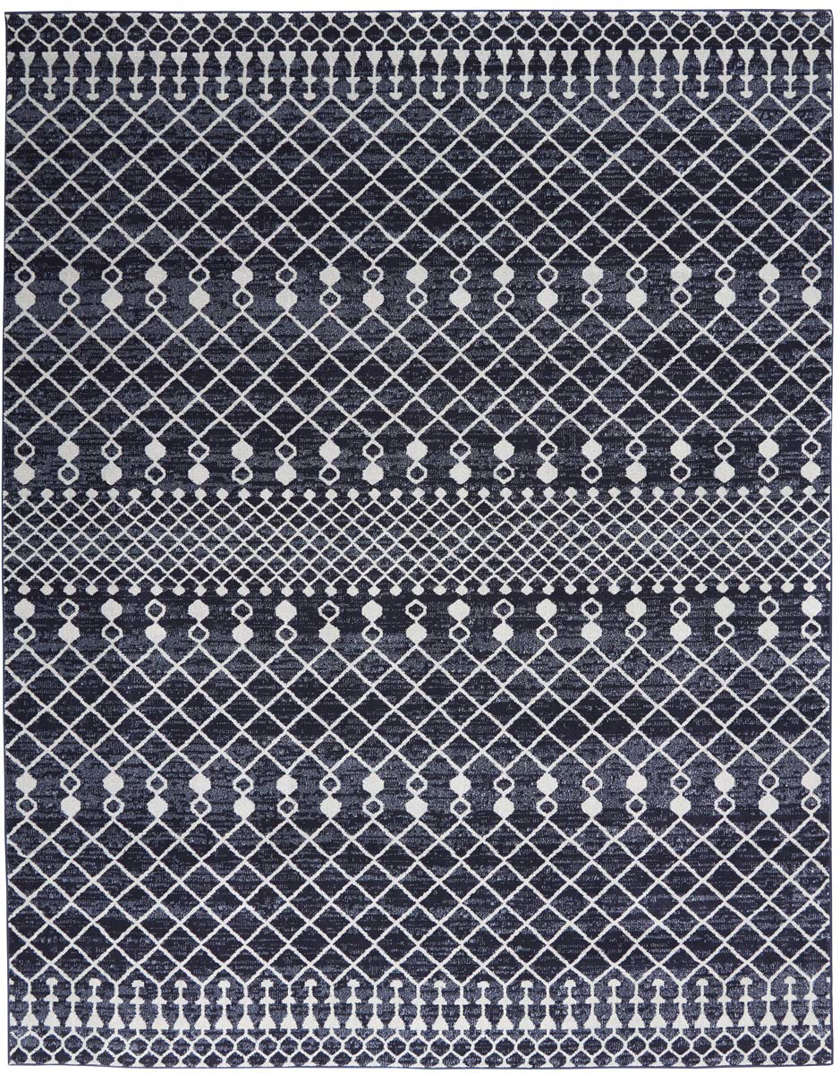 Picture of Palermo PMR03 Navy & Grey Area Rugs