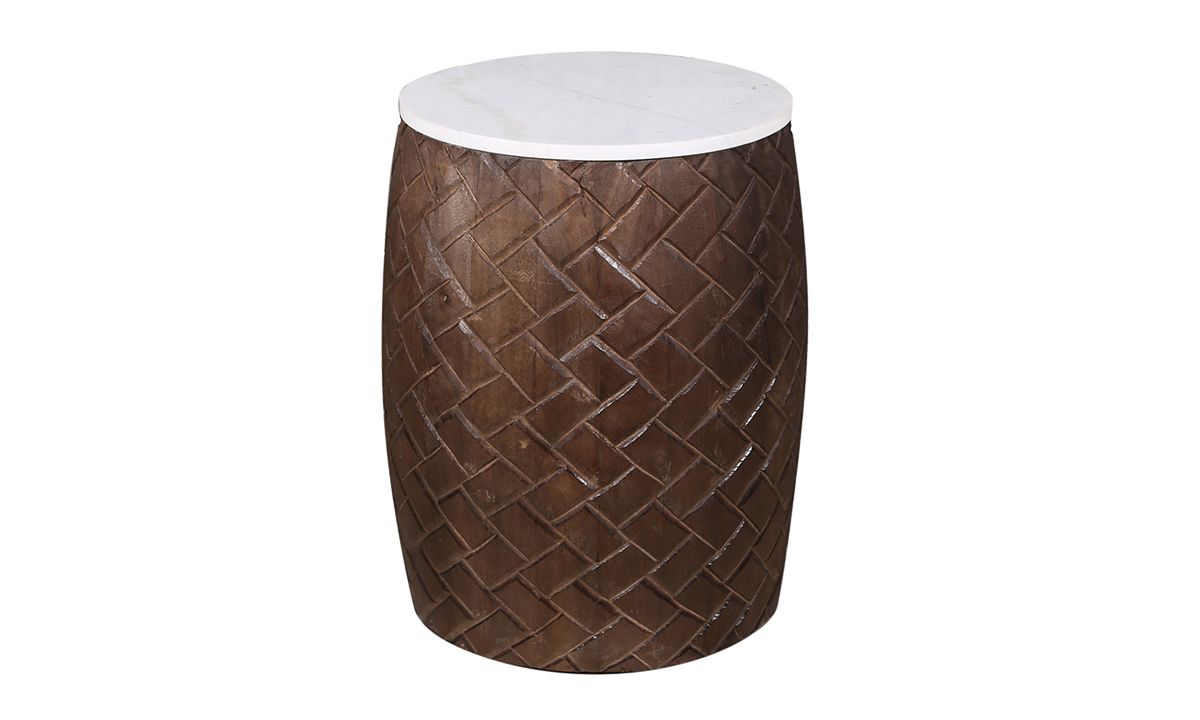Artesia Home Liatris Wood and Marble Accent Table